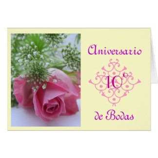 Español: aniversario de Bodas (el casarse Tarjeta Pequeña
