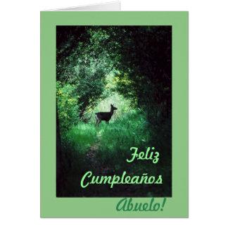 Español: B-día del abuelo /Grandpa de Cumpleaños Tarjeta De Felicitación