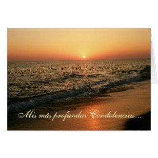 Español: Condolencias- puesta de sol/condolencia Tarjeta De Felicitación