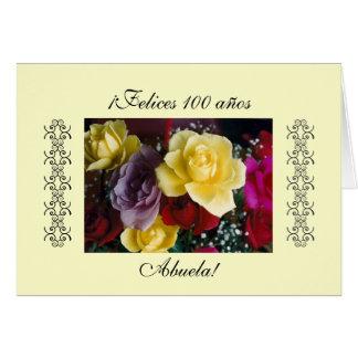 Español: Cumpleaños de Abuela Tarjeta De Felicitación