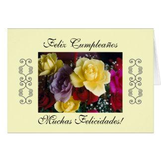 Español: Cumpleaños de Cumpleaños/ Tarjeta De Felicitación