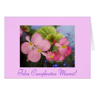 Español: Cumpleanos de mami - el cumpleaños de la  Tarjetas