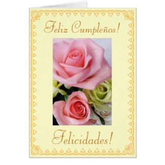 Español: Cumpleaños Feliz Cumpleanos Felicitaciones