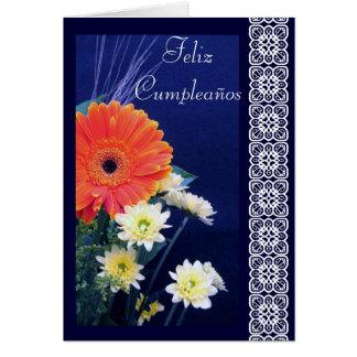 Español Cumpleaños Flores-Cumpleaños Felicitacion