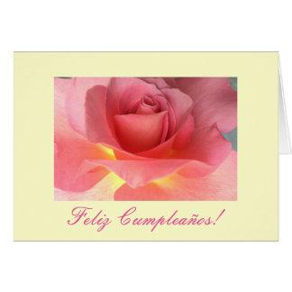 Español: cumpleanos tarjeta de felicitación
