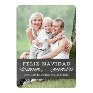 Español de la pizarra de la tarjeta de la foto del invitación 12,7 x 17,8 cm