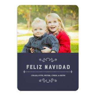 Español de la tarjeta de la foto del navidad del invitación 12,7 x 17,8 cm