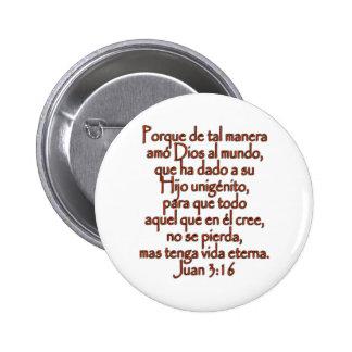 Español del 3:16 de Juan Chapa Redonda De 5 Cm