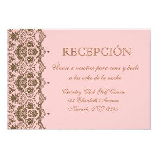 Espanol del en del tarjeta de Recepción de Boda Invitacion Personalizada
