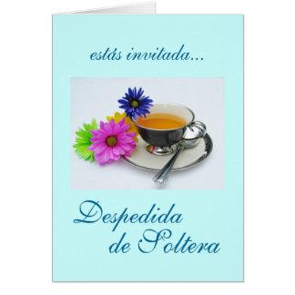 Español: Despedida de Soltera/ducha nupcial Tarjeta De Felicitación