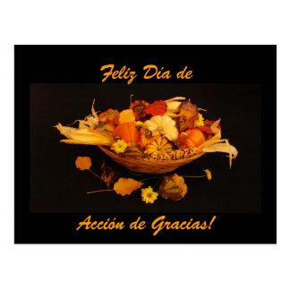 Español: Dia de Accion de Gracias Postal