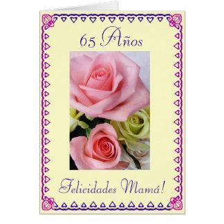 Español: El 65.o cumpleaños de la mamá. Tarjeta De Felicitación
