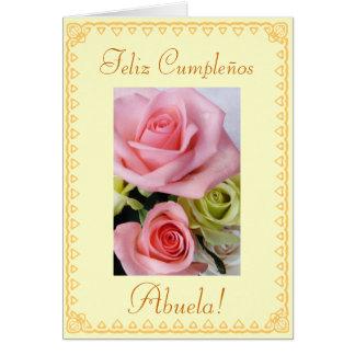 Español: El cumpleaños Cumpleanos/Abuela de los Gr Tarjeta De Felicitación