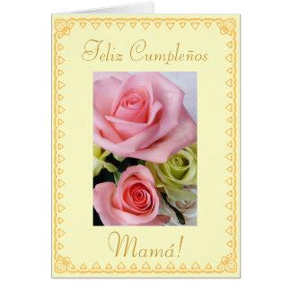 Español: El cumpleaños Cumpleanos/mamá de la mamá Tarjeton