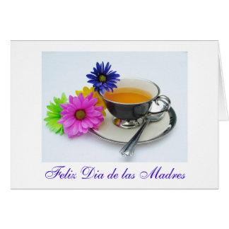 Español: El día de madre del te- del diámetro de Tarjeta De Felicitación