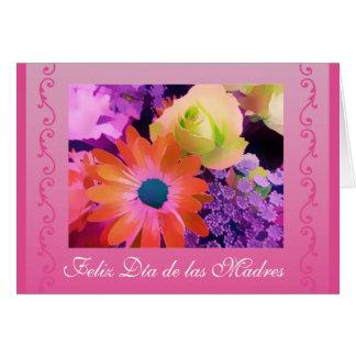 Español: El día de madre florece/dia de las madres Tarjeta De Felicitación