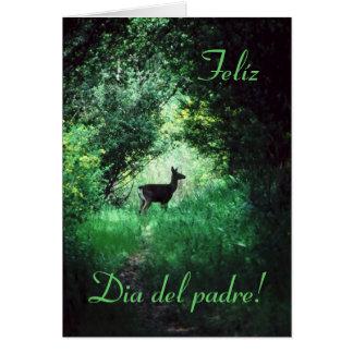 Español: El día de padre de Dia del Padre/ Tarjeta De Felicitación