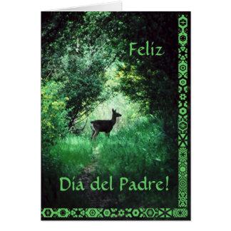 Español: El Día del Padre. El día de padre Tarjeta De Felicitación