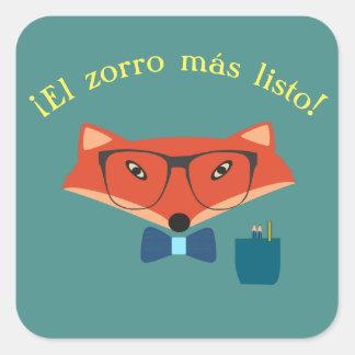 """Español """"el Fox más listo!"""" Pegatina"""
