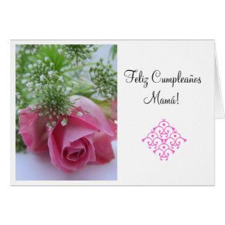 Español: ¡Feliz Cumpleanos Mamá! Herzios Tarjeta De Felicitación