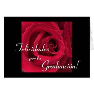 Español: Flor de Graduacion/de la graduación Tarjetón