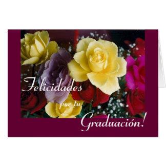 Español: Flor de Graduacion/de la graduación Tarjeta De Felicitación