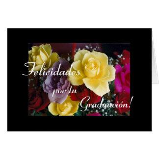 Español: Flores de Graduacion/de la graduación Tarjeta De Felicitación