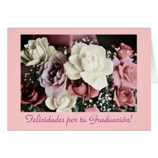 Español: Flores de Graduacion /Graduation Tarjeta De Felicitación