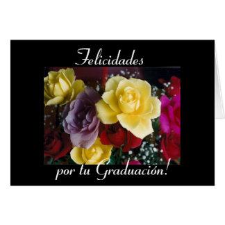 Español: Flores de la graduación de Graduacion/ Tarjeta