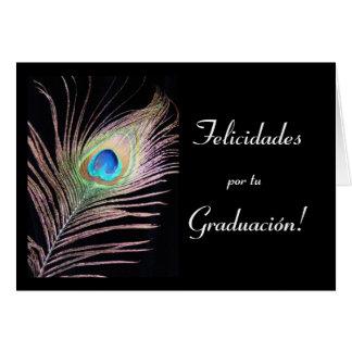 Español: Graduacion/graduación Tarjeton