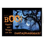 Español: Halloween/Dia de las Brujas Tarjeta De Felicitación