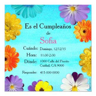 Español: Invitación de cumpleaños/Birthday