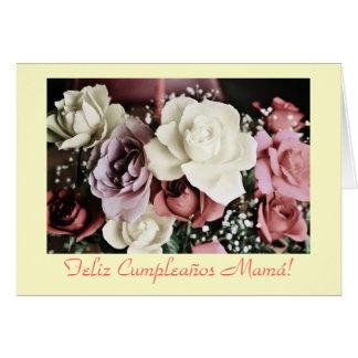 Español: Mamá-cumpleaños de Cumpleaños/ Tarjeta De Felicitación