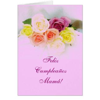 Español: Mamá: Cumpleanos Felicitación