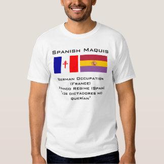 Español Maquis Camisetas