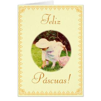 Español: Pascua feliz Felicitación