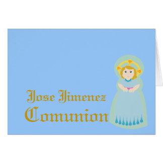 "Español-Personalizar de ""Comunion"" - Tarjeton"