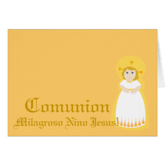 """Español-Personalizar milagroso de """"Comunion """"… - Tarjeta De Felicitación"""