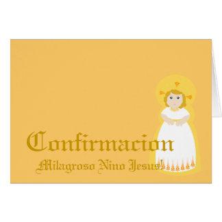 """Español-Personalizar milagroso de"""" Confirmacion"""" - Tarjeta"""