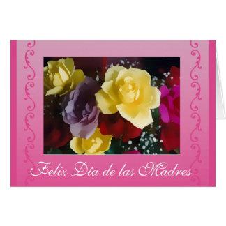Español: Rosas/dia de las madres del día de madre Tarjeta De Felicitación