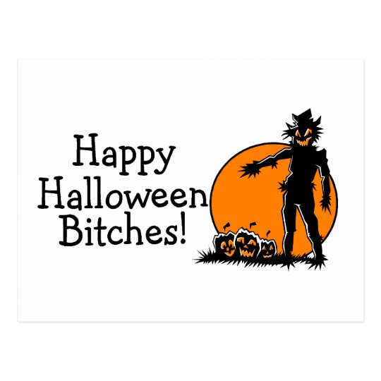 Espantapájaros de Halloween Postal