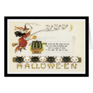 Espantosamente tarjeta de Halloween de la diversió