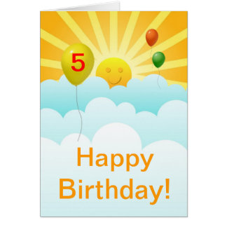 Espec. feliz de la edad del cumpleaños de la cara  tarjetón