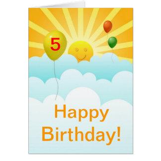 Espec. feliz de la edad del cumpleaños de la cara tarjeta de felicitación