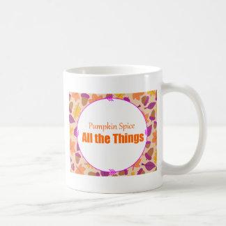 especia de la calabaza todas las cosas taza de café