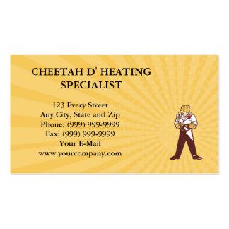 Especialista de la calefacción del guepardo de la tarjetas de visita