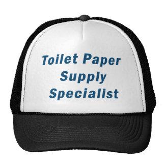 Especialista de la fuente del papel higiénico gorros bordados