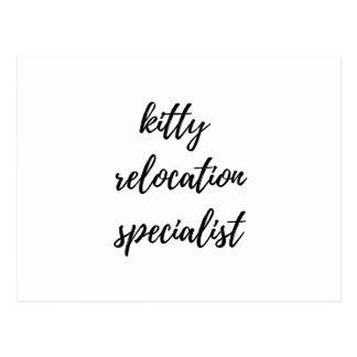 Especialista de la relocalización del gatito postal