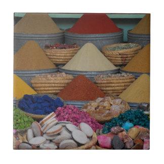 Especias marroquíes azulejo cuadrado pequeño