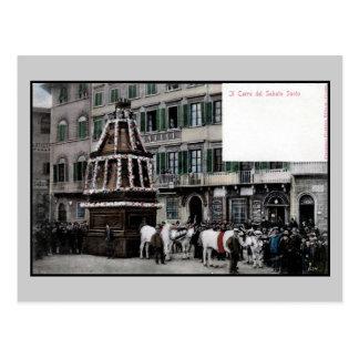 espectáculo de Florencia Italia Scoppio del Carro  Postal